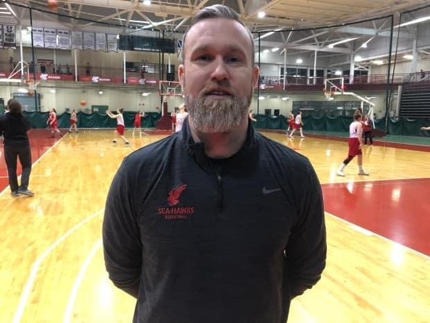 Coach Mark English says he's excited to get back on the court with the Memorial University Sea-Hawks next season after the Atlantic University Sport released news about a 2021-22 season.  (Jeremy Eaton/CBC - image credit)