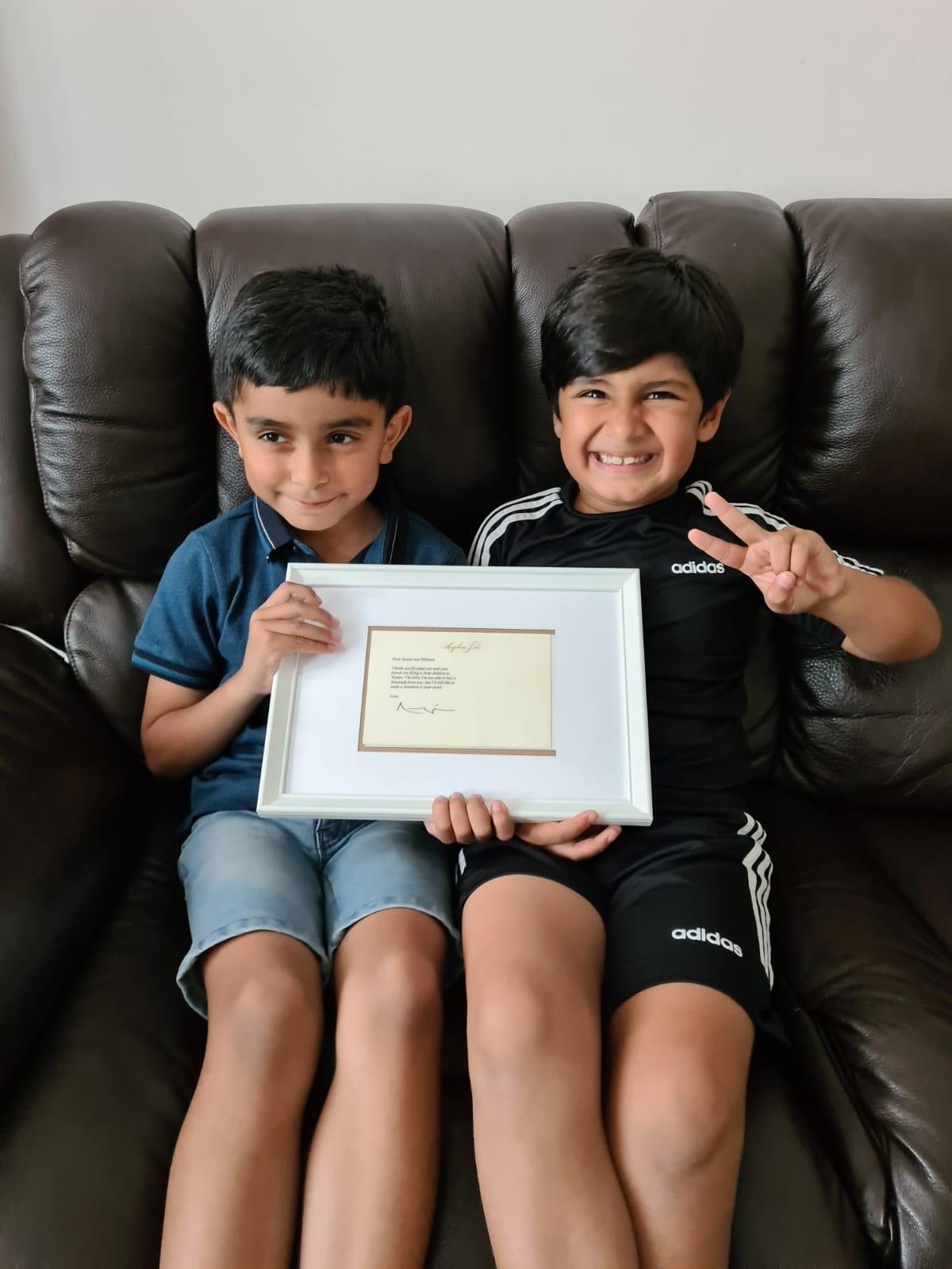 Mikaeel Ishaaq (left) and Ayaan Moosa have been raising money for causes with their lemonade