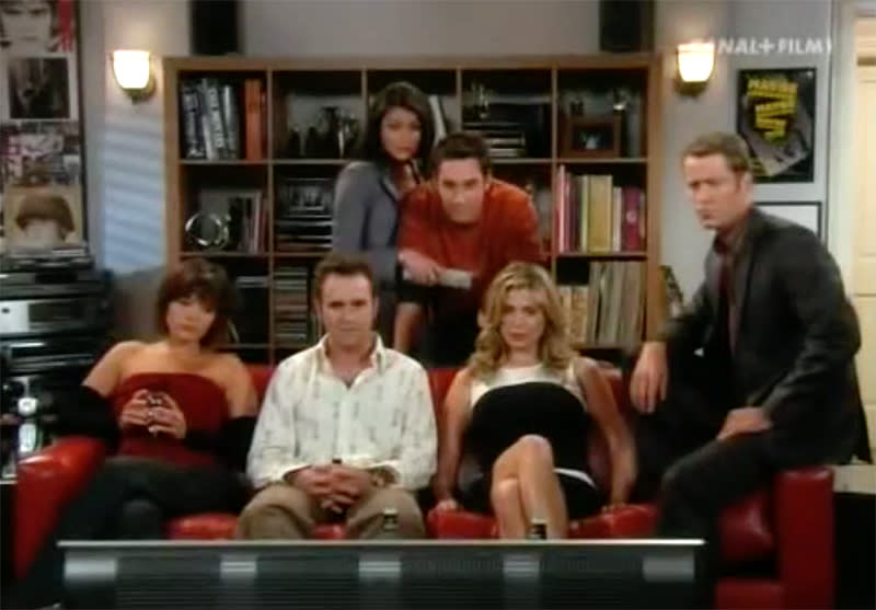 <p>Desperate to find a replacement <em>Friends</em> (as that monster sitcom was nearing the end of its momentous run), NBC headed across the pond for ideas and decided to Americanize a still-airing Brit hit, <em>Coupling</em>, a sexually charged series about dating and mating among a group of six best friends, acquaintances, and exes. Unlike most adaptations, this one just reused the title and the original scripts by Steven Moffat (<em>Dr. Who</em>, <em>Sherlock</em>). The heavily hyped show failed from go. Three actors, including Melissa George and Breckin Meyer, were recast from the original pilot. The finalized sextet had stilted delivery and minimal chemistry, which was clearly important for a plot all about having been in or wanting to get in everyone else's pants. Or maybe it was a lost-in-translation situation, as scripts had to be shortened to meet U.S. TV advertising needs, and our culture and primetime network standards surrounding this topic are generally a bit more puritanical. Moffet blamed the disaster on ceaseless network meddling. Whatever the reason, in the end, only four of the 13 episodes commissioned saw screen time. <em>— Carrie Bell</em><br><br>(Photo: NBC) </p>