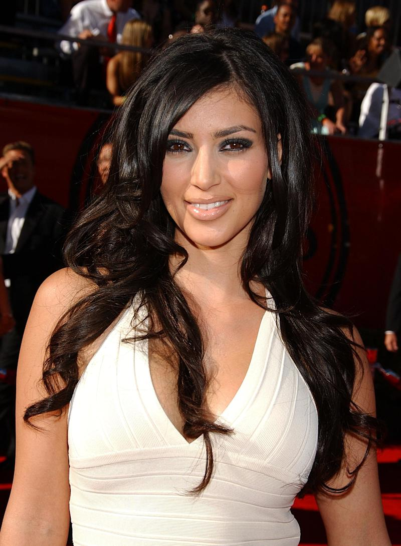 Kim Kardashian attends the 2006 ESPY Awards in Hollywood.Picture: UK Press