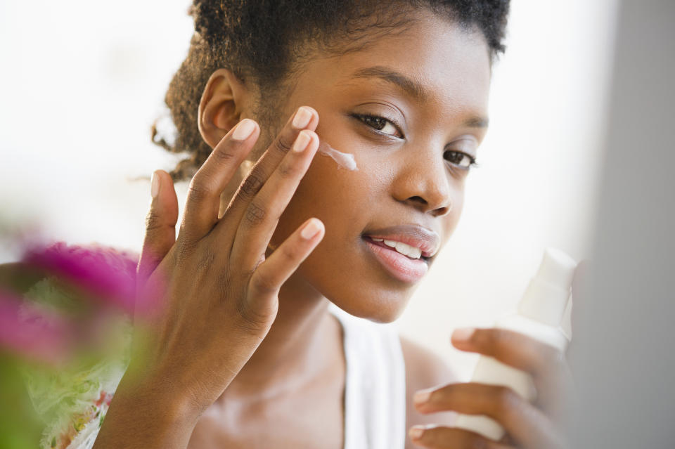 Applying sunscreen to the face is important, but don't gforget about the rest of the body. Getty Images.