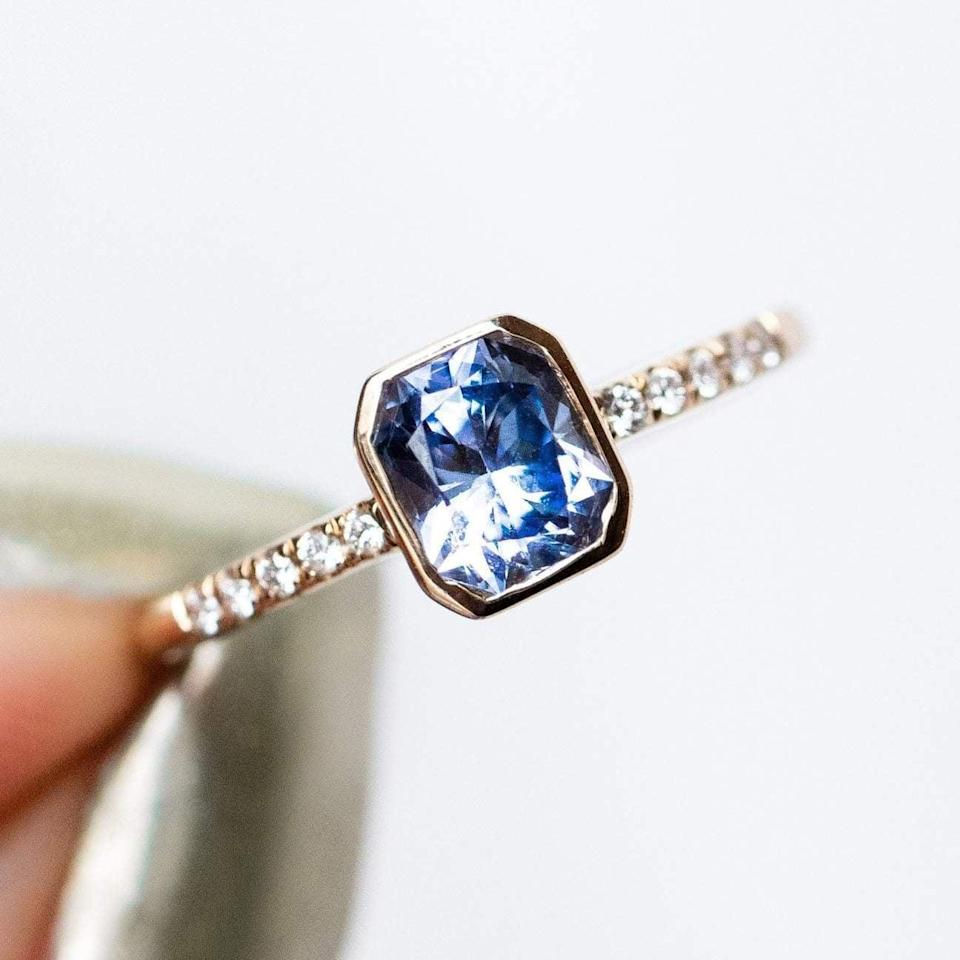 """<p>Looking at the <a href=""""https://www.popsugar.com/buy/Adelaide-Ring-Yellow-Gold-532227?p_name=Adelaide%20Ring%20in%20Yellow%20Gold&retailer=localeclectic.com&pid=532227&price=1%2C980&evar1=fab%3Aus&evar9=7954958&evar98=https%3A%2F%2Fwww.popsugar.com%2Fphoto-gallery%2F7954958%2Fimage%2F47021275%2FAdelaide-Ring-in-Yellow-Gold&list1=shopping%2Cwedding%2Cjewelry%2Crings%2Cbride%2Cengagement%20rings%2Cfashion%20shopping&prop13=api&pdata=1"""" rel=""""nofollow noopener"""" class=""""link rapid-noclick-resp"""" target=""""_blank"""" data-ylk=""""slk:Adelaide Ring in Yellow Gold"""">Adelaide Ring in Yellow Gold</a> ($1,980) is like looking into crystal clear water on a sunny day - breathtaking.</p>"""