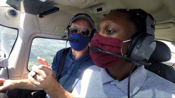 PHOTO: 'With this program, I can actually turn this passion into something,' Ruth Gebremariam said. Sisters of the Skies' mission is to 'develop pathways and partnerships to increase the number of black women in the professional pilot career field.' (Sisters of the Sky)