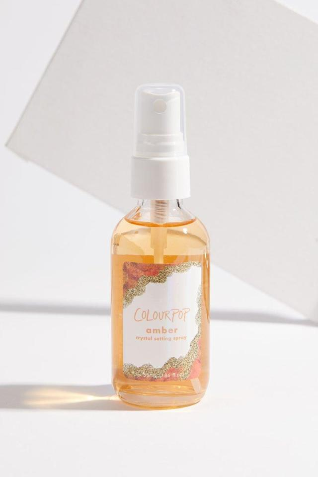 "<p>Infused with amber crystal, vitamin C, and mango flower, this triple-duty spray helps to firm, brighten, and refresh skin. $6, <a href=""https://colourpop.com/products/amber"" rel=""nofollow noopener"" target=""_blank"" data-ylk=""slk:colourpop.com"" class=""link rapid-noclick-resp"">colourpop.com</a> (Photo: ColourPop) </p>"
