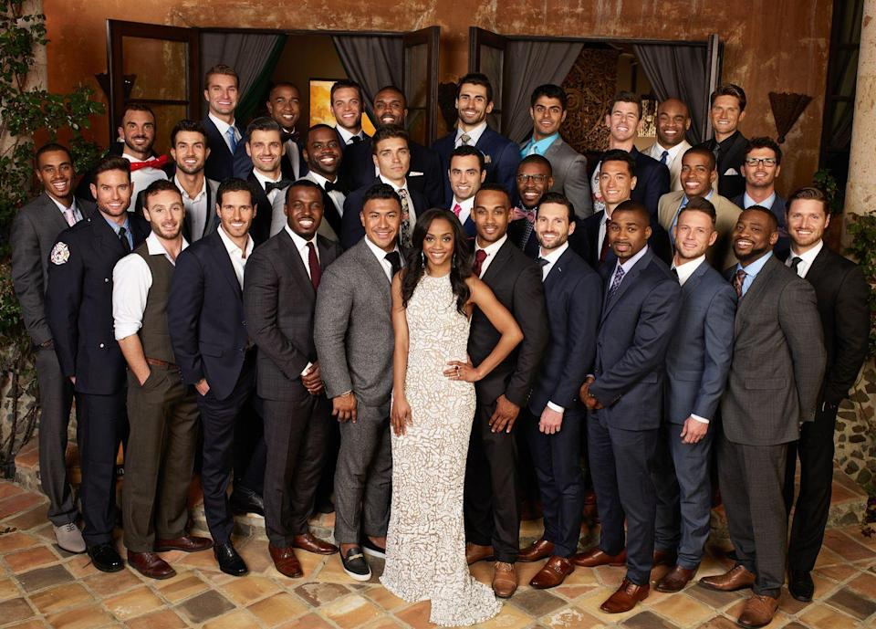 """<p>The first rose ceremony is always the longest. The limo exits start when it's dark outside (say, 7 p.m. or later) and by the time the first people are leaving, the sun is usually rising. That means <a href=""""https://www.popsugar.com/entertainment/How-Long-Do-Bachelor-Rose-Ceremonies-Take-Film-45655633"""" rel=""""nofollow noopener"""" target=""""_blank"""" data-ylk=""""slk:13 hours or more of filming"""" class=""""link rapid-noclick-resp""""><em>13 hours or more </em>of filming</a>. </p>"""