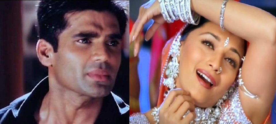 Akshay Kumar and Suniel Shetty were the 90s Bollywood action heroes. That was the era of Madhuri ruling the box-office, but again, her genre was romances like <em>Dil, Saajan,</em> and <em>Hum Aapke Hain Kaun</em>. Though she was cast in an Akshay Kumar-Saif Ali Khan starer, <em>Aarzoo</em>, the Madhuri-Suniel pairing never saw the light of the day.