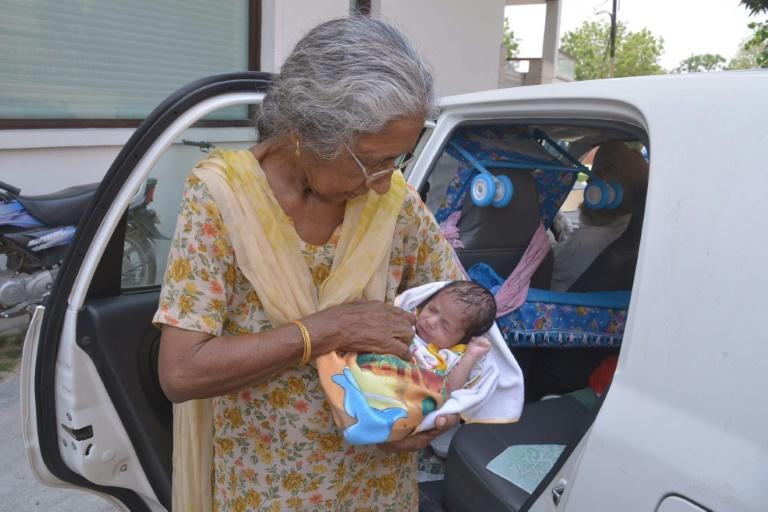 """Daljinder Kaur says she feels """"full of energy"""" after giving birth to a baby boy at the age of 70"""