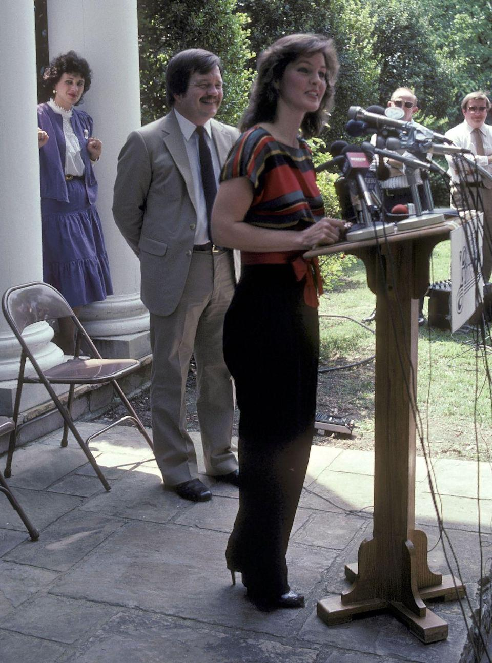 "<p>In 1982, Priscilla Presley announced that Graceland would open to the public as a memorial museum for the late singer. Priscilla was <a href=""https://www.latimes.com/archives/la-xpm-1989-06-11-tm-2866-story.html"" rel=""nofollow noopener"" target=""_blank"" data-ylk=""slk:given control of Elvis Presley Enterprises"" class=""link rapid-noclick-resp"">given control of Elvis Presley Enterprises</a> after Elvis's father's death in 1979, which she held until Lisa Marie turned 25.</p>"