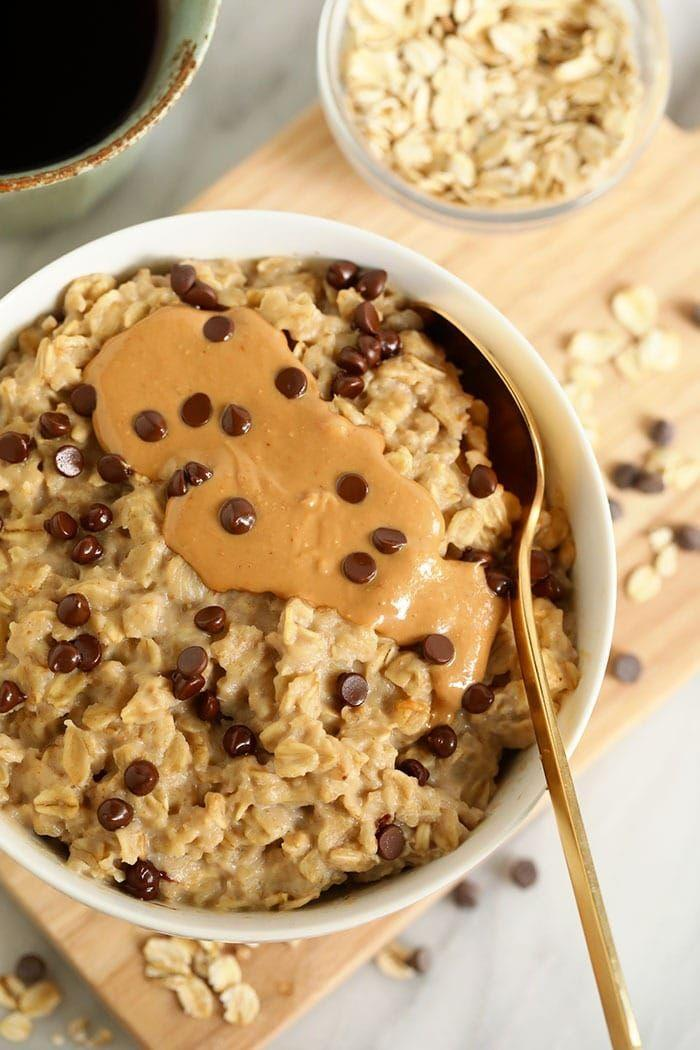 """<p>You can make delicious oatmeal instantly without having to turn to instant oatmeal at all. We love how Lee Funke of <em>Fit Foodie Finds </em>uses rolled oats to create a naturally sweet oatmeal bowl that tastes just like cookie dough (seriously!).</p><p><a href=""""https://fitfoodiefinds.com/2-minute-microwave-oatmeal/"""" rel=""""nofollow noopener"""" target=""""_blank"""" data-ylk=""""slk:Get the recipe from"""" class=""""link rapid-noclick-resp"""">Get the recipe from </a><em><a href=""""https://fitfoodiefinds.com/2-minute-microwave-oatmeal/"""" rel=""""nofollow noopener"""" target=""""_blank"""" data-ylk=""""slk:Fit Foodie Finds »"""" class=""""link rapid-noclick-resp"""">Fit Foodie Finds »</a></em></p>"""