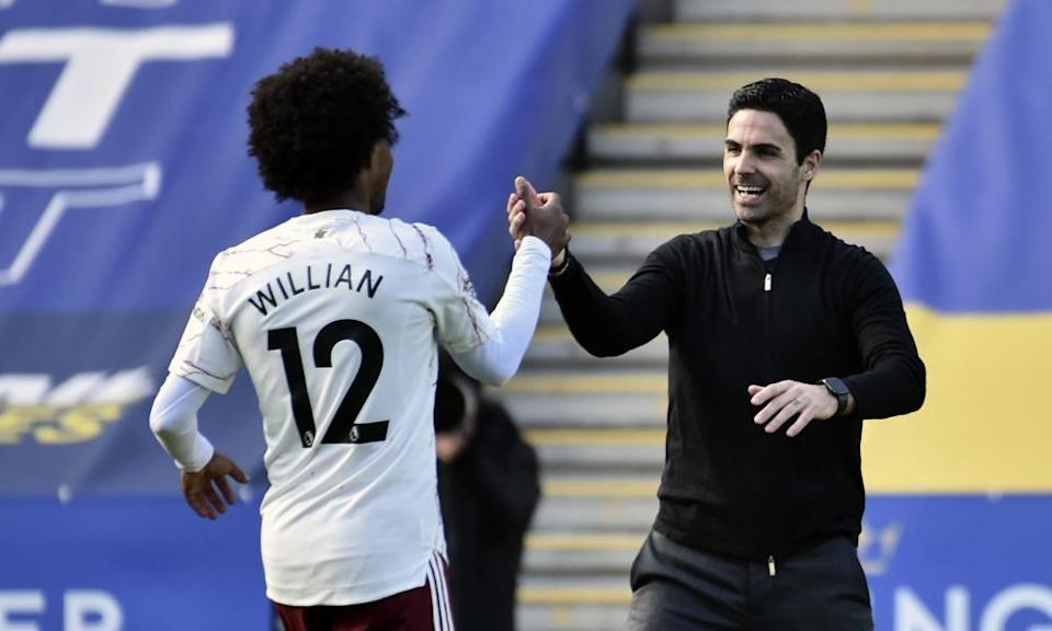 Mikel Arteta may call on Willian again after he impressed against Leicester.
