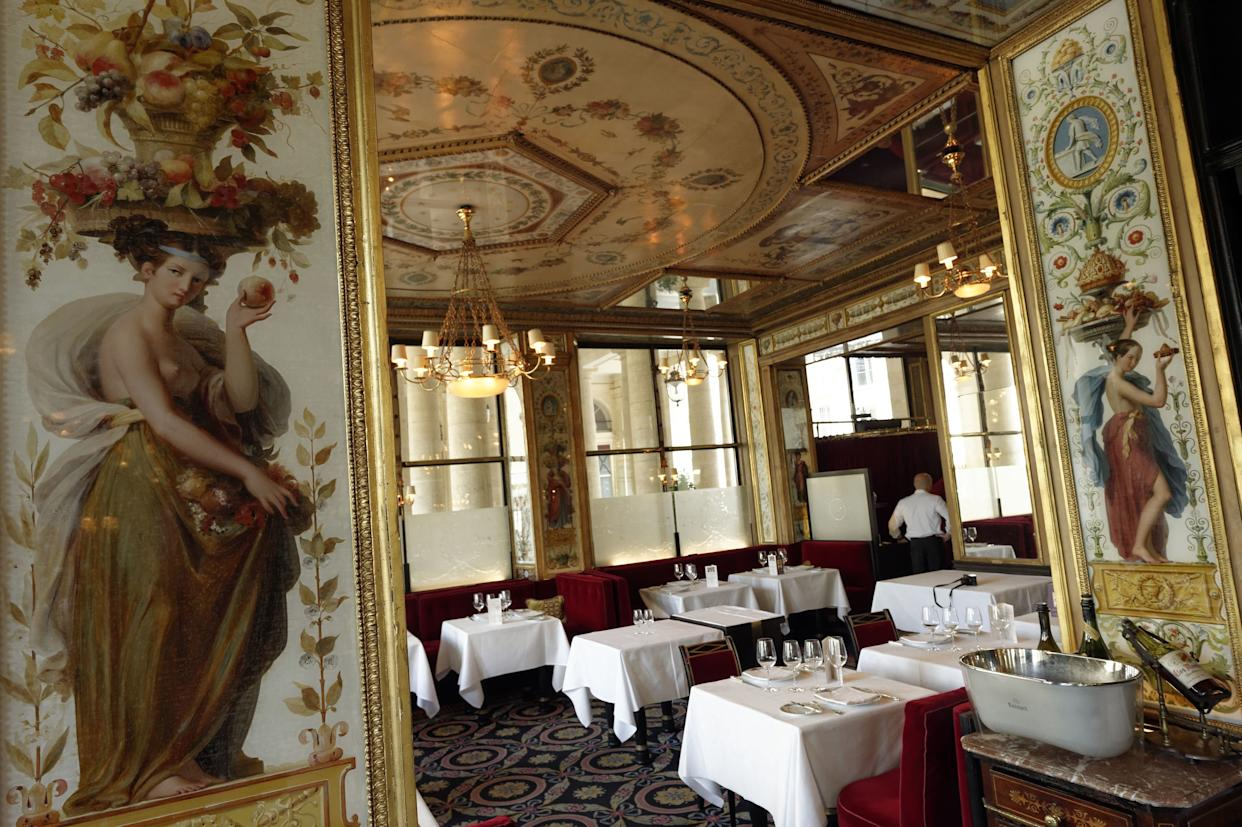 """During their time in Paris, Astrid and Charlie dined at <a href=""""http://www.grand-vefour.com/en/"""" rel=""""nofollow noopener"""" target=""""_blank"""" data-ylk=""""slk:Le Grand V&eacute;four"""" class=""""link rapid-noclick-resp"""">Le Grand V&eacute;four</a>."""
