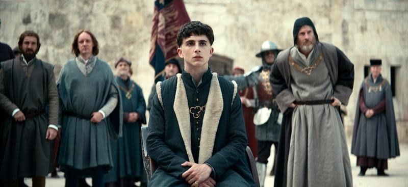 Review: In 'The King,' Chalamet inherits the throne