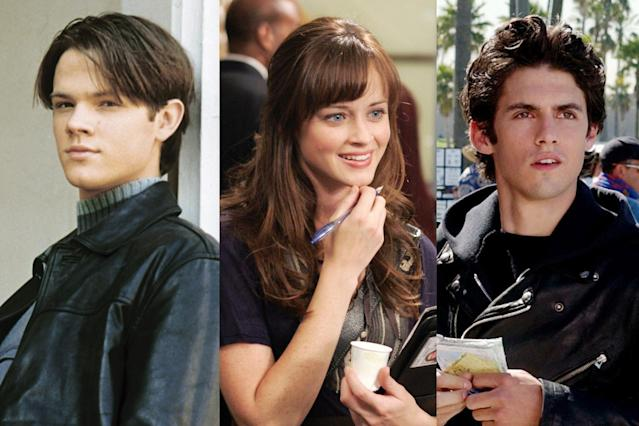 From left, Dean (Jared Padalecki), Rory (Alexis Bledel), and Jess (Milo Ventimiglia). (Photo: Everett Collection)