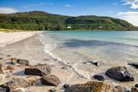 """<p><strong>Looks like: </strong>The Caribbean </p><p>If you ignore the weather, the beaches of the Isle of Mull in the Scottish Highland could well be mistaken for Caribbean locales. Whether Calgary or Langamull (the latter of which is nicknamed The Mull Caribbean), both boast white shell sand, hidden coves and beautiful clear waters. Visit in the summer for long, relaxing days where the sun doesn't set until 10pm.</p><p><strong>Stay at: </strong><a href=""""http://glengormcastle.co.uk/"""" rel=""""nofollow noopener"""" target=""""_blank"""" data-ylk=""""slk:Glencorm Castle"""" class=""""link rapid-noclick-resp"""">Glencorm Castle</a>, four miles outside of Toblemory, the biggest town on the island. The site acts as a B&B, but also offers self-catering cottages.</p>"""