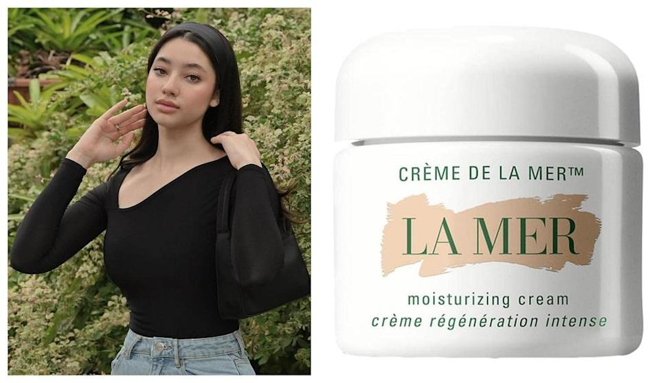 The social media celeb known by the moniker Little Miss Khan stunned many for using the luxury face cream on an unexpected body part.  —  Pictures from Instagram/Ameera Khan, Sephora Malaysia