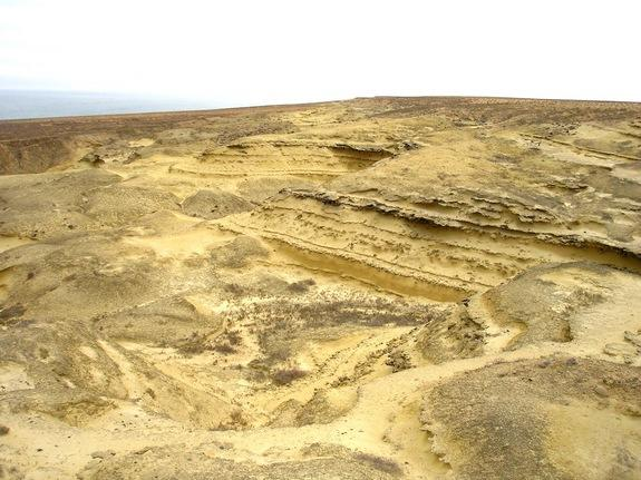 1) Bentiaba badlands in southern Angola. This area is a rich site for fossils that were laid down when the land was slightly offshore during the Cretaceous period.