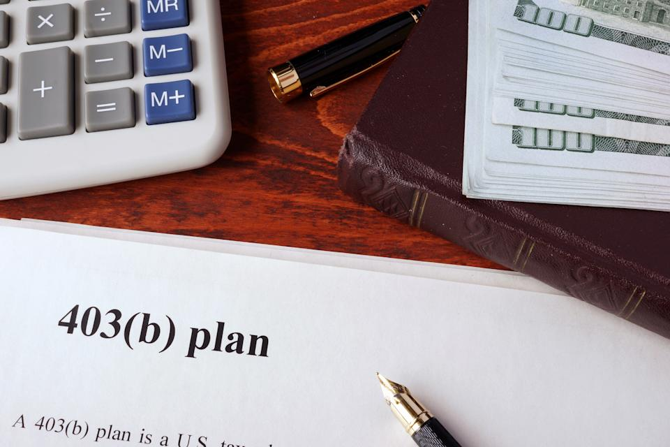 The official name of the 403b is tax-deferred annuity plan. (Photo: Getty)
