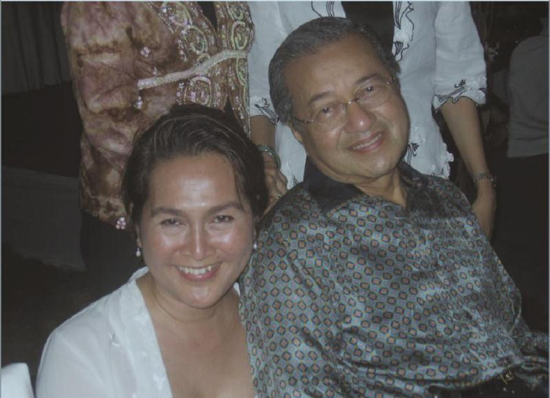 Undated photo of the late Yasmin Ahmad with Prime Minister Tun Dr Mahathir Mohamad. — Malay Mail pic