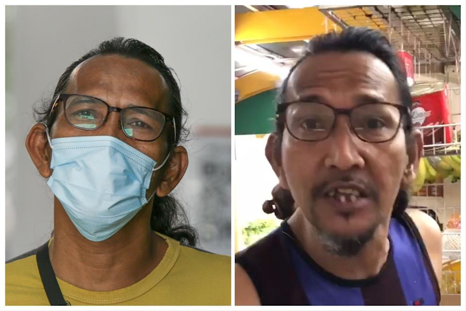 Mohamed Ali Ramly was charged for not wearing a face mask, as well as hurling racist and abusive words to an individual. (PHOTO: Dhany Osman / Yahoo News Singapore)