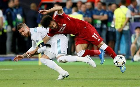 <span>Mohamaed Salah's Champions League final was ended prematurely </span> <span>Credit: Reuters  </span>