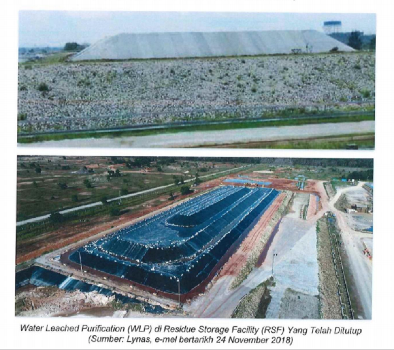 A photo by Lynas showing its temporary storage facility for the Water Leached Purification (WLP) waste produced at its Kuantan plant in Pahang. — Picture courtesy of Ministry of Energy, Science, Technology, Environment & Climate Change