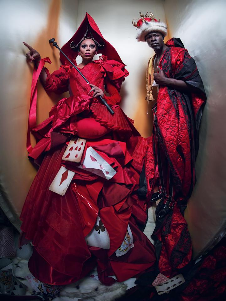 <p>RuPaul and Dijmon play the King and Queen of Hearts from the childhood tale. </p>