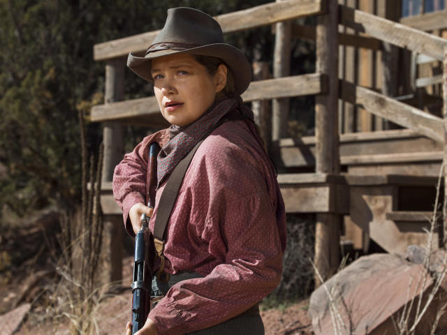 Merritt Wever as Mary Agnes. (Photo: James Minchin/Netflix)