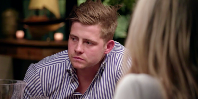 MAFS Mikey during tense dinner party