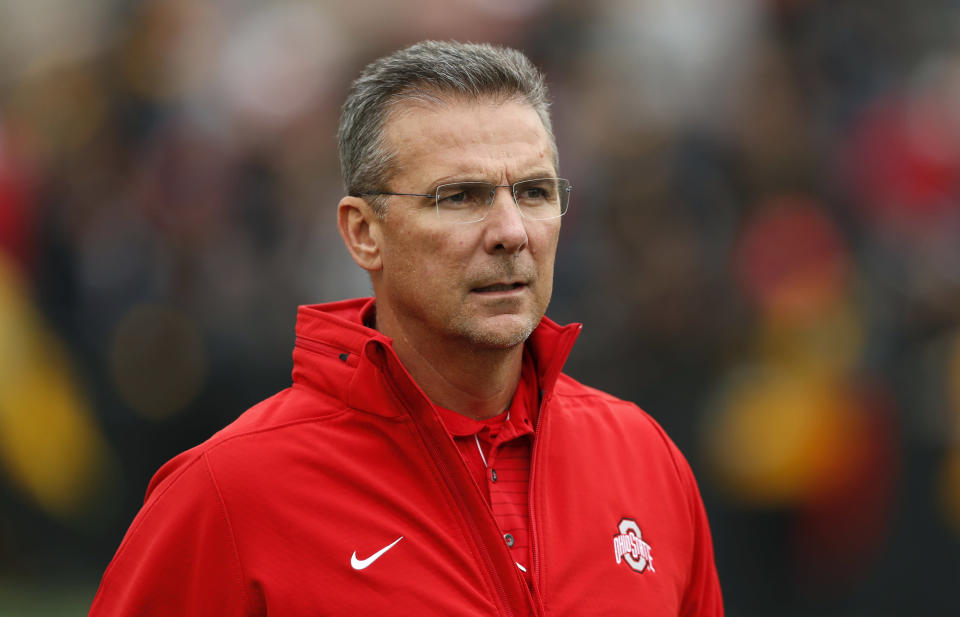 Ohio State head coach Urban Meyer was suspended three games on Wednesday. (AP)