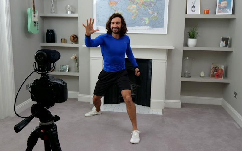 Joe Wicks doing a workout - GETTY IMAGES