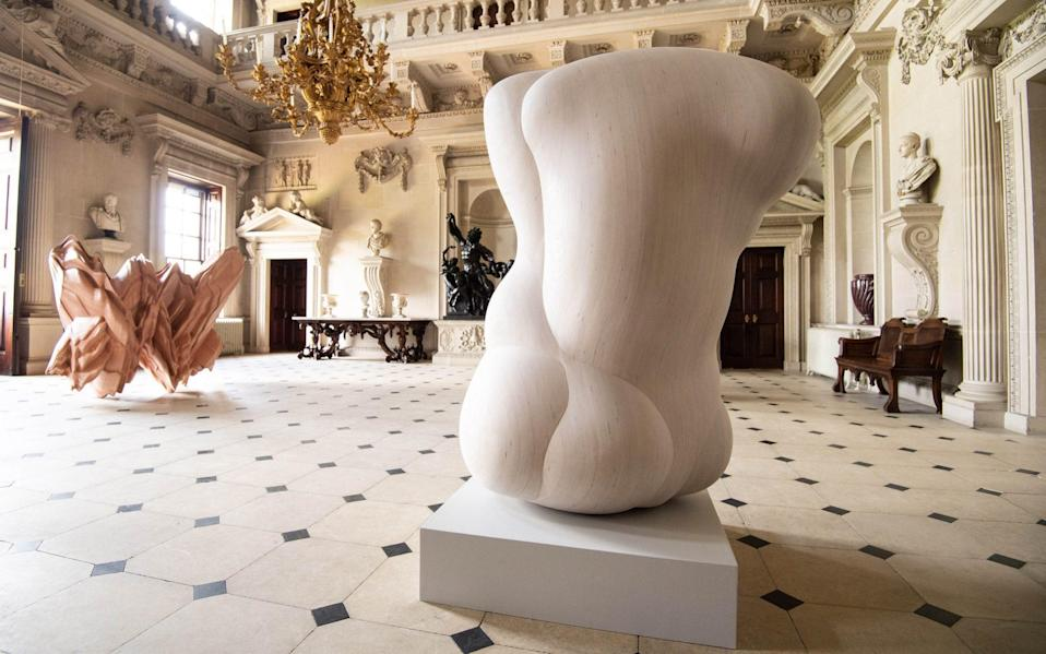 Sculptor Tony Cragg's new exhibition at Houghton Hall, Norfolk - Jeff Spicer/PA