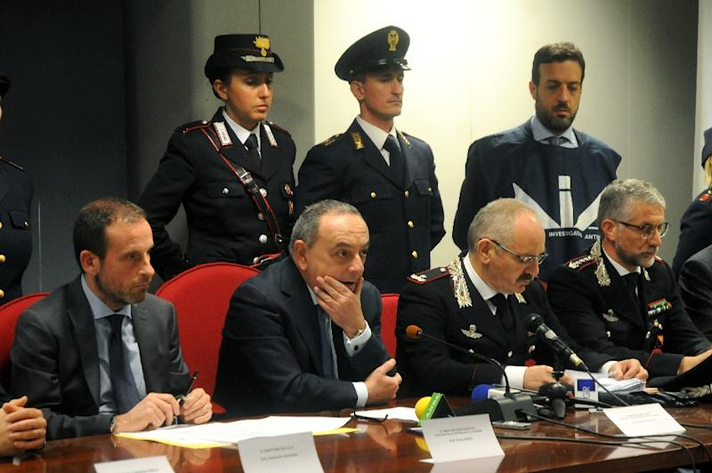"Prosecutor Franco Lo Voi tells a news conference that it would be ""pointless to say we're closing in"" on Denaro, describing him as a ""different kind of fugitive"" (AFP Photo/ALESSANDRO FUCARINI)"