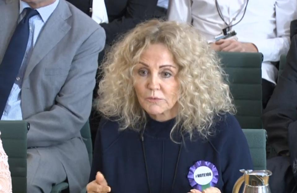 Amy Price, giving evidence to the Commons Petitions Committee at the House of Commons in London, as Katie Price calls for online abuse to be made a specific offence.