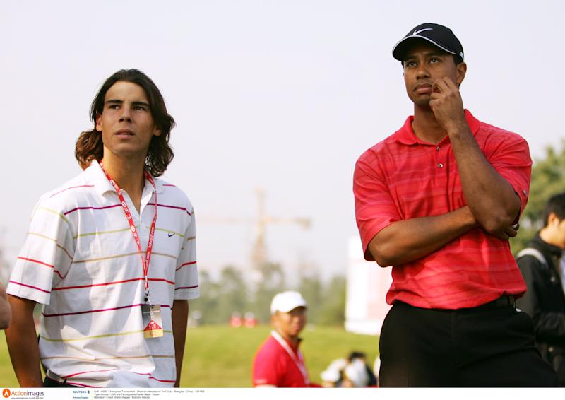 Rafael Nadal and Tiger Woods in 2006. (Action Images / Brandon Malone)