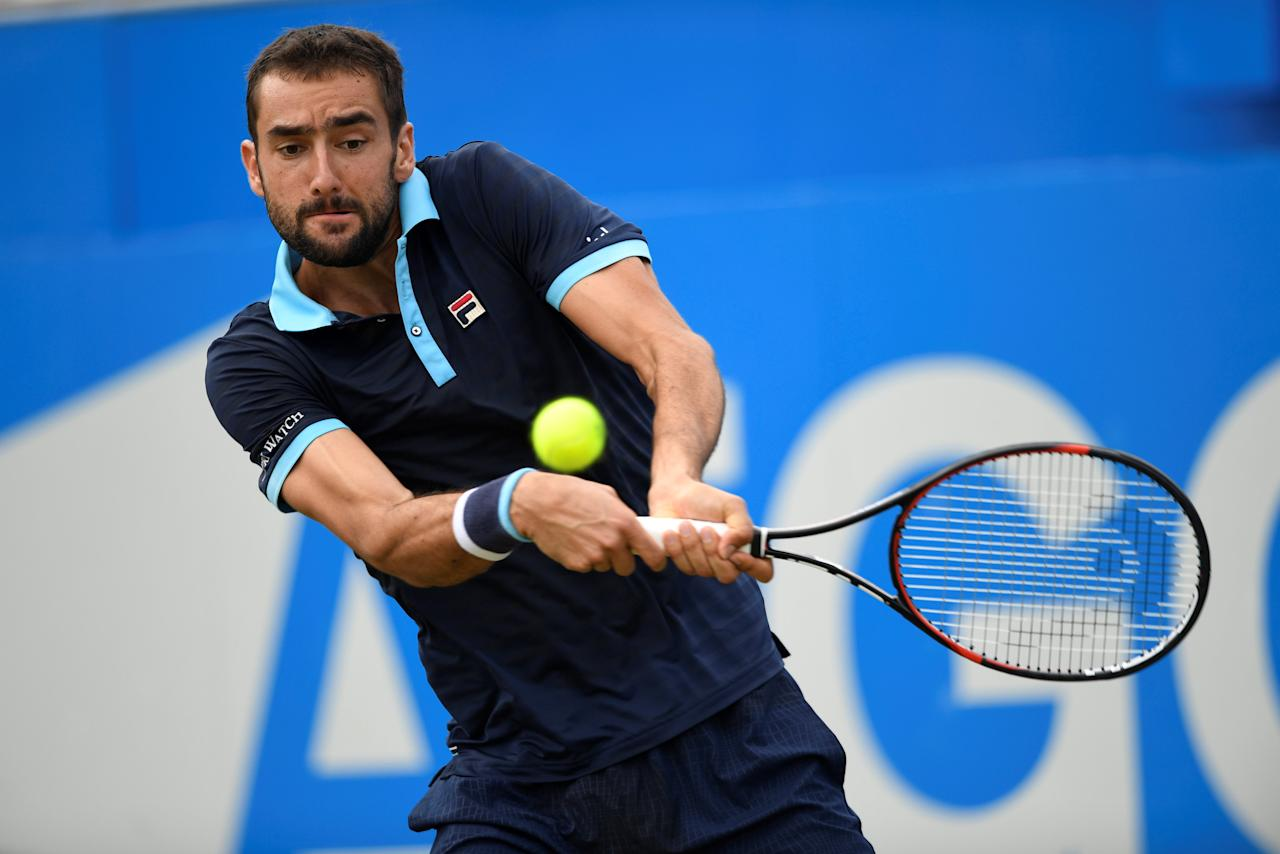 Tennis - Aegon Championships - Queen's Club, London, Britain - June 23, 2017   Croatia's Marin Cilic in action during his quarter final match against USA's Donald Young    Action Images via Reuters/Tony O'Brien