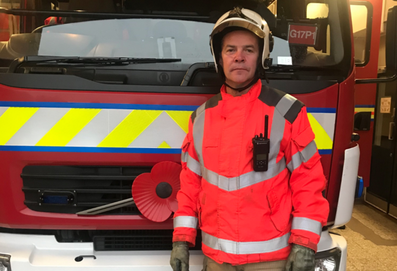 WM Paul Marston has been a firefighter for almost 30 years. (GMFRS)