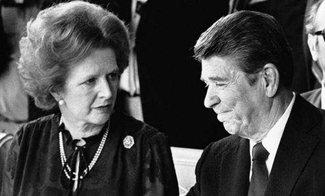 British Prime Minister Margaret Thatcher teamed up with President Ronald Reagan for a final Cold War showdown with the Soviet Union.