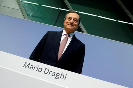 European Central Bank (ECB) President Draghi holds a news conference