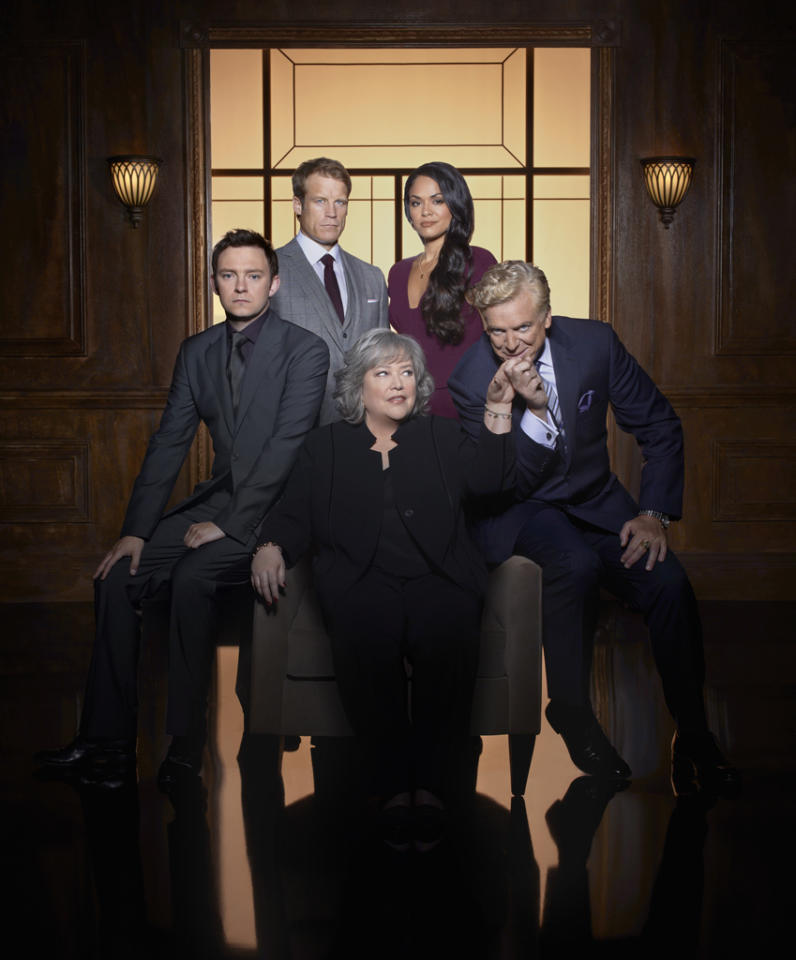 "<b>""Harry's Law""</b> (NBC)<br>Sundays at 8 PM<br><br><b>The Good News:</b> Despite being bounced all over NBC's schedule (and thanks to the names David E. Kelly and Kathy Bates, we imagine), the show still manages to attract at least 7 million viewers a week, one of NBC's largest audiences.<br><br><b>The Bad News:</b> The show performs terribly in the demo. Some perspective: Its season average rating is a 1.2, which is worse than ""Prime Suspect"" and ""The Playboy Club,"" both of which already got the ax."