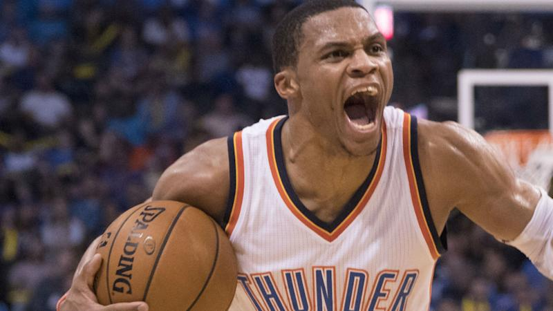 4c6fc4487375 Russell Westbrook gets mad at media after Kevin Durant questions