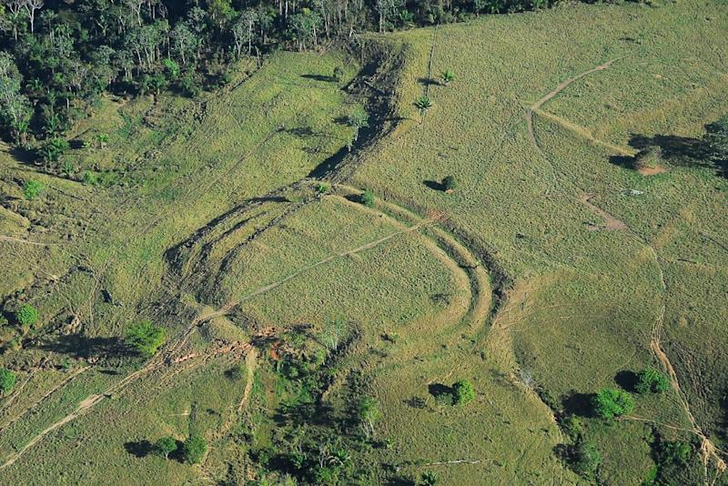 A geoglyph built in Acre state in the western Brazilian Amazon that had been concealed for centuries by the rainforest