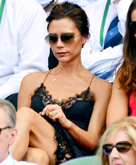 Victoria Beckham Wears Skimpy Lingerie-Inspired Dress to Wimbledon: Hot or Not?