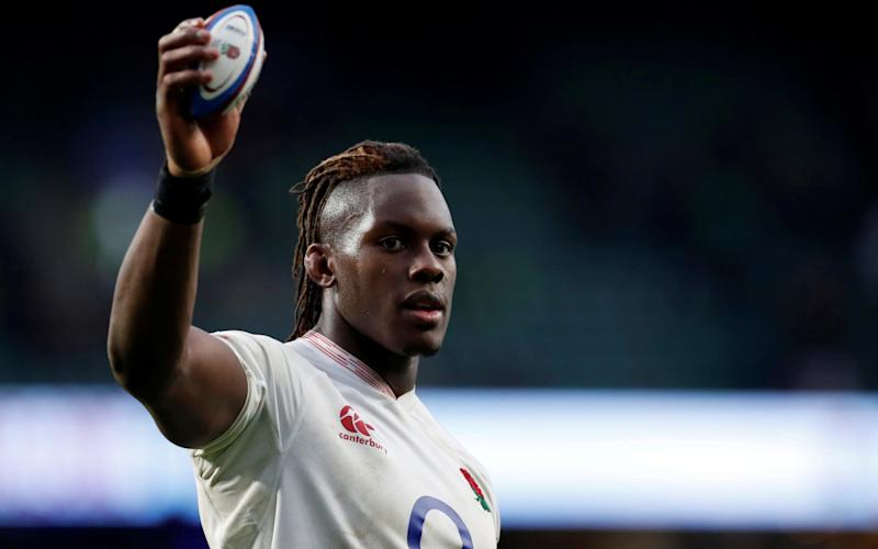 England's Maro Itoje celebrates after victory against Ireland in the Six Nations - Reuters