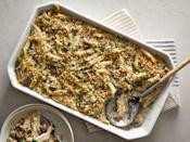 """<p><strong>Recipe: <a href=""""https://www.southernliving.com/recipes/leftover-turkey-casserole"""" rel=""""nofollow noopener"""" target=""""_blank"""" data-ylk=""""slk:Leftover Turkey Casserole"""" class=""""link rapid-noclick-resp"""">Leftover Turkey Casserole</a></strong></p> <p>Say no more when you need something to make the most of leftover Thanksgiving turkey. This pasta bake is bursting with creamy, cheesy, comforting flavor. </p>"""