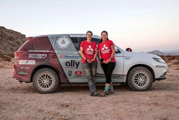 PHOTO: Rachael Ridenour and Kristie Levy will drive the Mitsubishi Outlander SUV, the only plug-in hybrid vehicle in the competition. (Courtesy of Rebelle Rally)