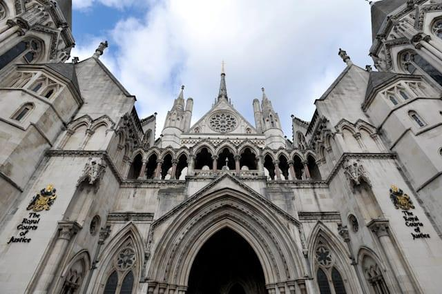Royal Courts of Justice stock