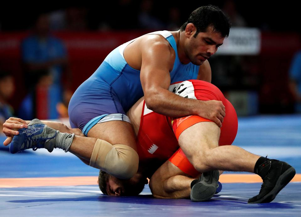 File Sushil Kumar of India in action at the 2018 Asian Games (REUTERS)