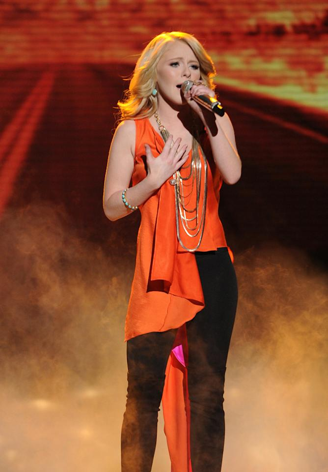 "Hollie Cavanagh performs ""Faithfully"" by Journey on ""<a target=""_blank"" href=""http://tv.yahoo.com/american-idol/show/34934"">American Idol</a>."""