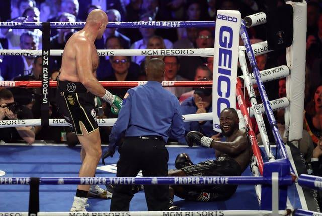 Tyson Fury, left, beat Deontay Wilder in their February 2020 rematch (Bradley Collyer/PA)