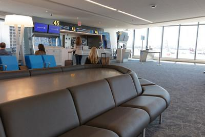 United Airlines gates at LaGuardia Airport within Terminal B new concourse